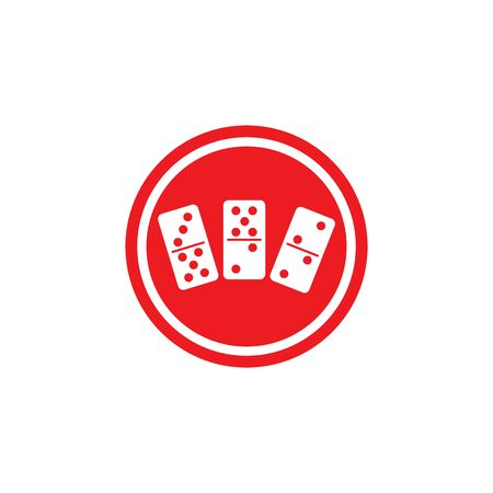 dominoes card vector symbol template