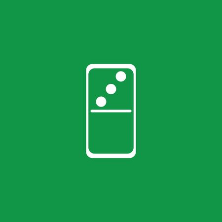 white dominoes card in green baground vector symbol