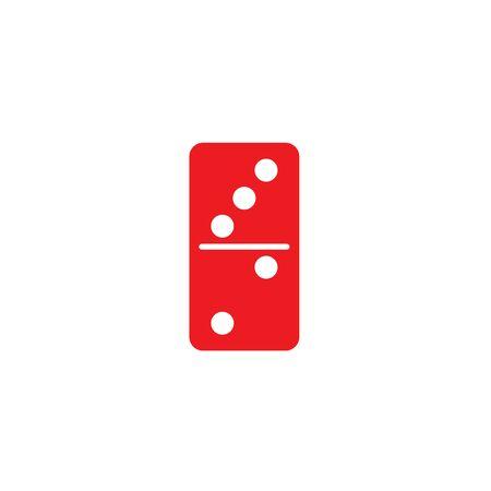 red dominoes vector symbol template Vectores