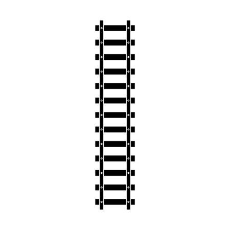 Tory kolejowe wektor ikona ilustracja szablonu projektu