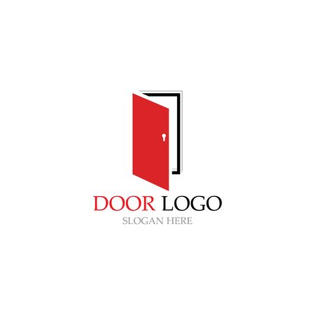 door logo for home and building vector