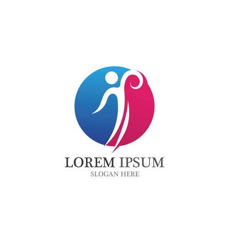 Health people live  logon vector Иллюстрация