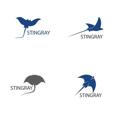 Modèle de conception d'illustration vectorielle poisson Stingray