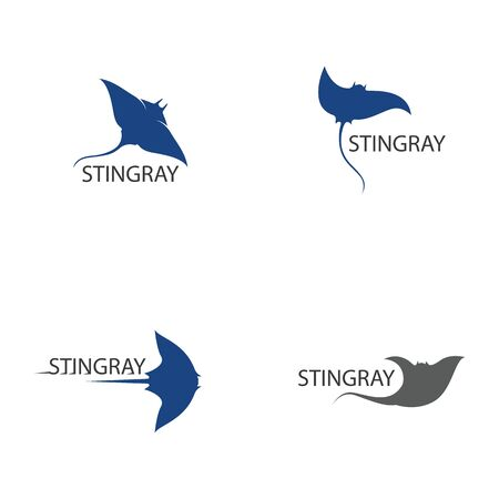 Stingray fish vector illustration design template