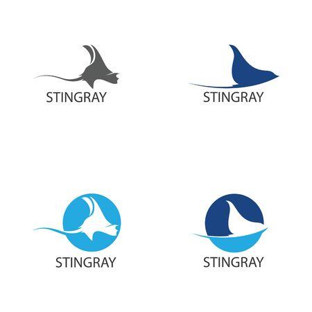 Modèle de conception d'illustration vectorielle poisson Stingray Vecteurs