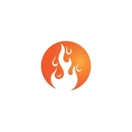 Fire flame Template vector icon Oil, gas and energy concept Ilustrace