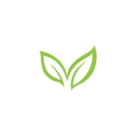 Green leaf ecology nature element vector icon Ilustración de vector