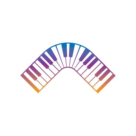 Keyboard piano vector Musical instrument illustration design template Vectores