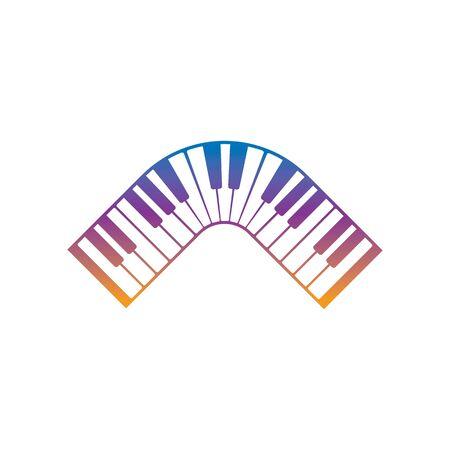 Keyboard piano vector Musical instrument illustration design template Illustration