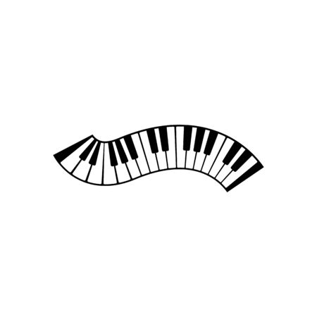 Keyboard piano vector Musical instrument illustration design