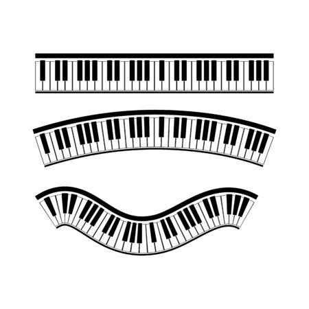 Disegno dell'illustrazione dello strumento musicale di vettore del pianoforte della tastiera Vettoriali