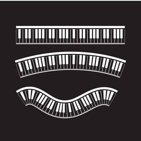 Keyboard piano vector Musical instrument illustration design Ilustrace