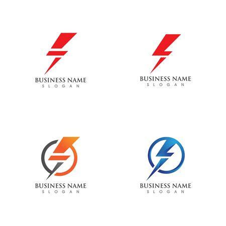 Lightning bolt flash thunderbolt icons vectors