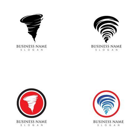 Tornado logo symbol vector illustration design