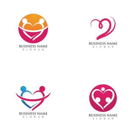 Family care Love Vector icon illustration design Template