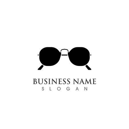 Glasses symbol vector icon design template