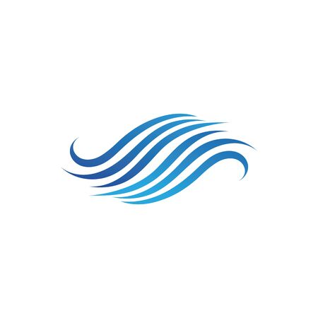 Water wave icon vector illustration design logo Ilustracja