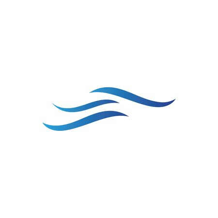 Water wave icon vector illustration design logo Foto de archivo - 138464595