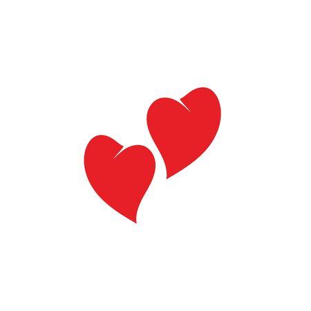 Love Vector icon illustration design Template Ilustracje wektorowe