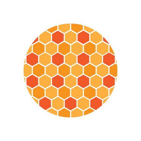 honeycomb background. honeycomb pattern. Hexagon abstract background vector design Ilustração