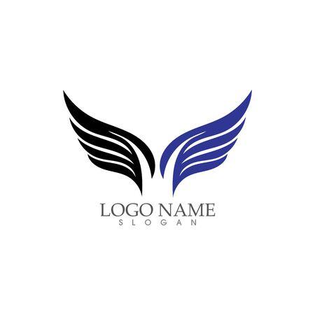 Progettazione dell'illustrazione di vettore di Wing Falcon Logo Template