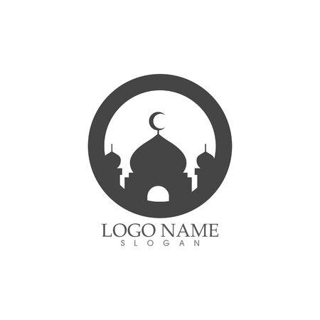 Mosque Moslem icon vector Illustration design template Ilustrace