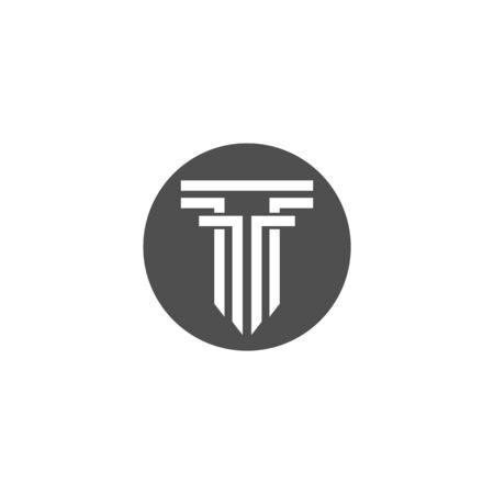 column Logo vector Template Çizim