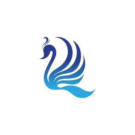 Swan logo Premium and symbol Vector