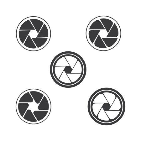 Camera vector icon illustration design template
