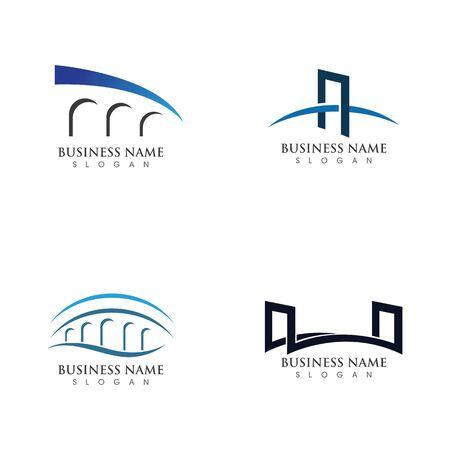 Bridge Logo Template vector icon illustration design Logo