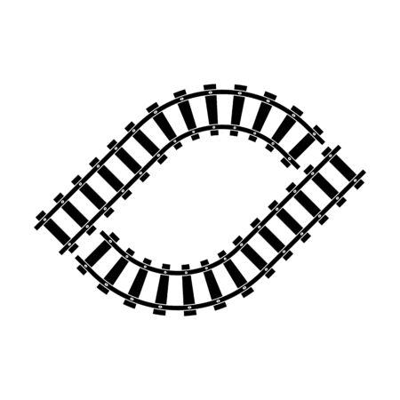 Train railroad vector image