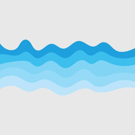 Water wave vector illustration design background Vector Illustratie