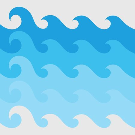 Water wave vector illustration design background