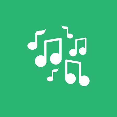 music tones logo and symbol vector Vectores
