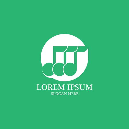 music tones logo and symbol vector Vettoriali