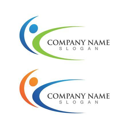 Healthy People logo designs template Logo