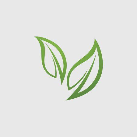 Eco icon green leaf vector illustration Vector Illustration