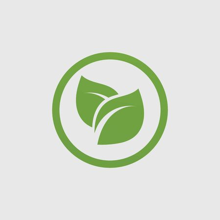 Logos of green Tree leaf ecology nature element vector
