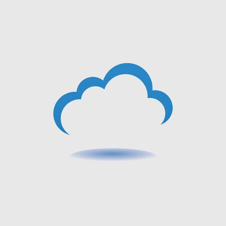 Cloud template vector icon illustration design