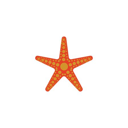 Star fish vector flat design template