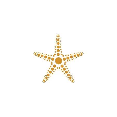 Star fish logo vector flat design template