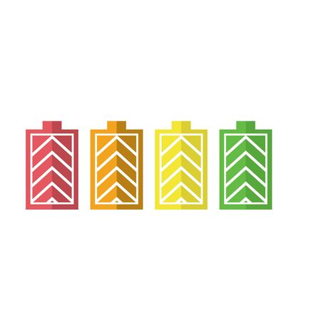 Battery icon set vector template