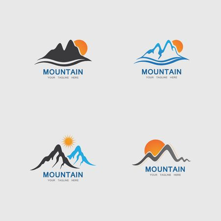 Mountain icon Logo Template Vector illustration design Illustration