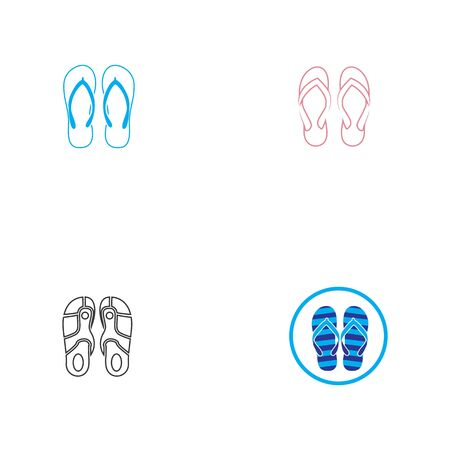 Slipper icon vector flat design