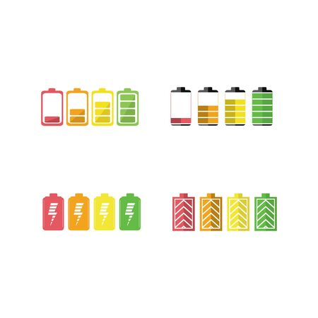 Battery icon symbol set vector