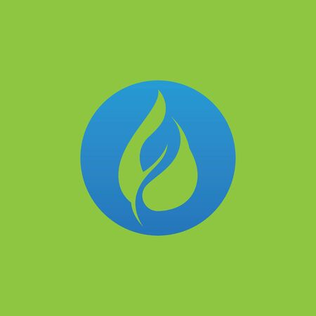 water drop and leaf logo