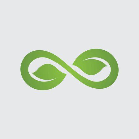 Infinity leaf Vector icon illustration Logo template design
