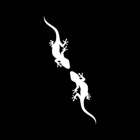 lizard animal vector logo template  イラスト・ベクター素材