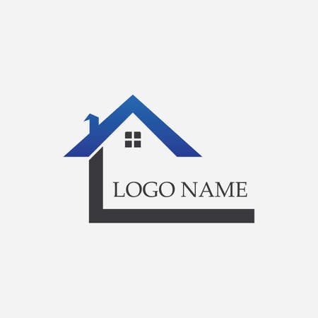 Real Estate , Property and Construction Logo design Çizim