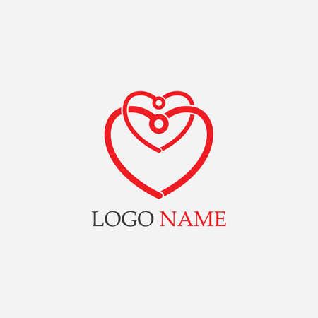 Beauty Love Vector icon illustration design Template 向量圖像